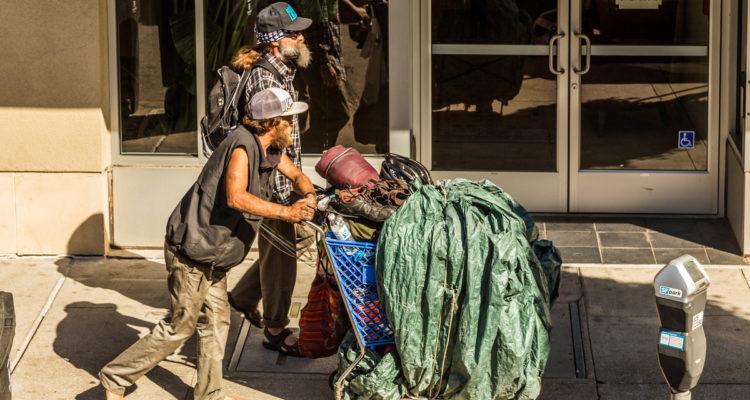 Photo of 2 homeless men