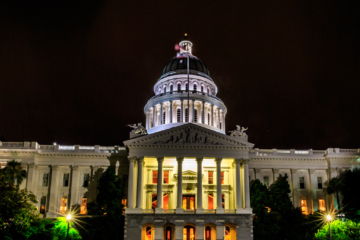 Photo of California Capitol at night
