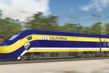 Conceptual photo of California bullet train