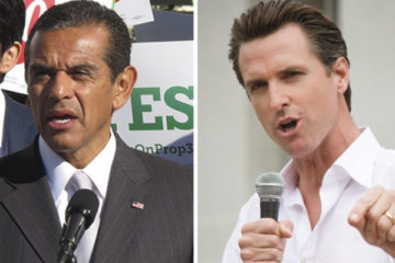Antonio Villaraigosa and Gavin Newsome