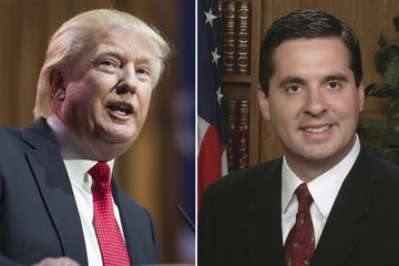 Composite image of President Trump and Devin Nunes