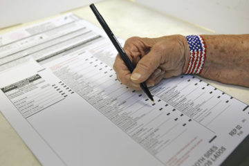 Voting of a person marking a California ballot