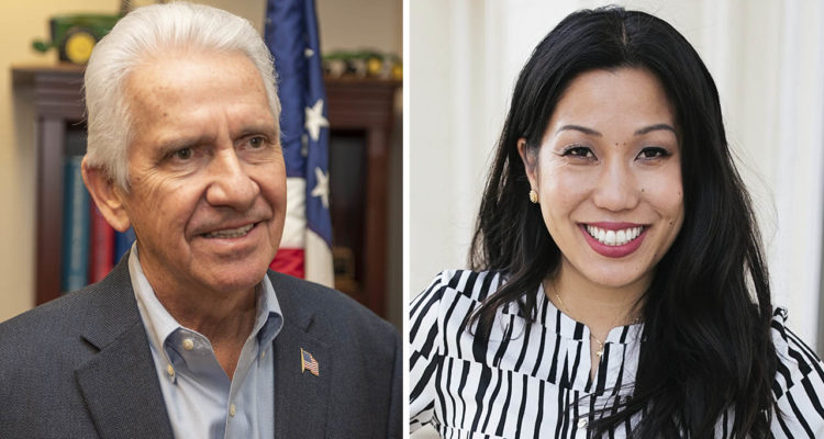 Photos of Jim Costa, left, and Elizabeth Heng,