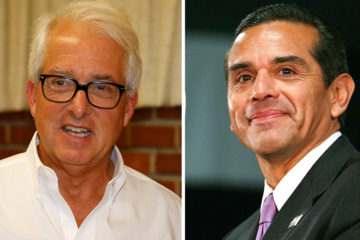 Republican John Cos and Democrat Antonio Villaraigosa images side by side