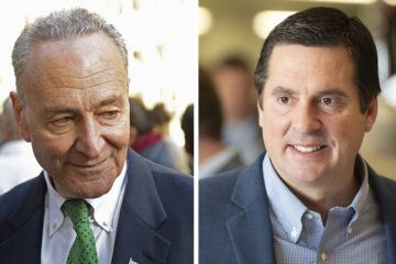 Sen. Charles Schumer and Rep. Devin Nunes Photo Combination