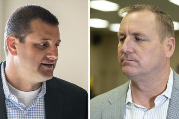 Rep. David Valadao (R-Hanford) and Rep. Jeff Denham (R-Turlock) side by side images
