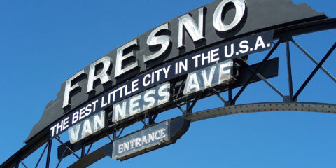 Fresno: Best Little City in the U.S.A sign