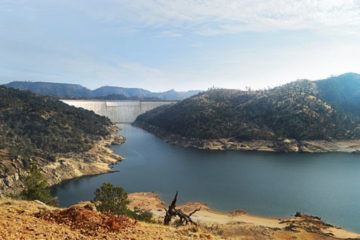 Photo illustration of proposed Temperance Flat dam