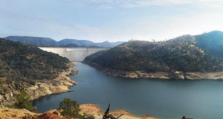 Photo illustration of proposed Temperance Flat dam