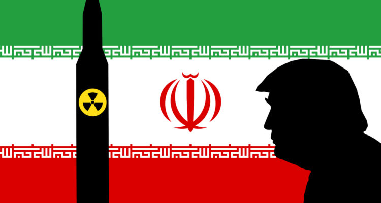 Vector Image of Trump, Nuclear Missile & Iran Flag