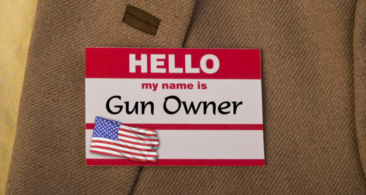 Picture of a label, Hello My Name Is Gun Owner