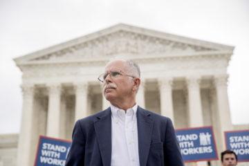 AP Photo of Mark Janus outside U.S. Supreme Court building