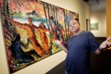 AP Photo of comedian/art collector Cheech Marin