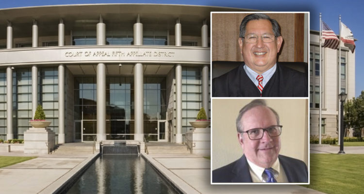 Photos of new 5th District Court of Appeal associate justices Thomas DeSantos, top, and Mark W. Snauffer