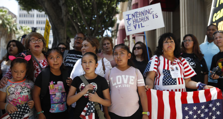 Photo of children protesting separated families in Los Angeles