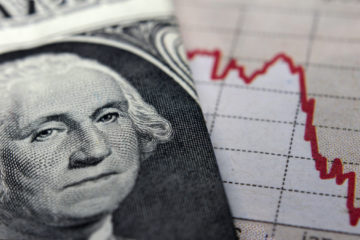 Photo illustration representing an economic recession