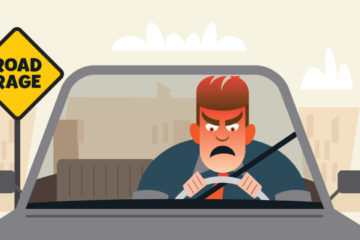 Illustration of motorist with road rage