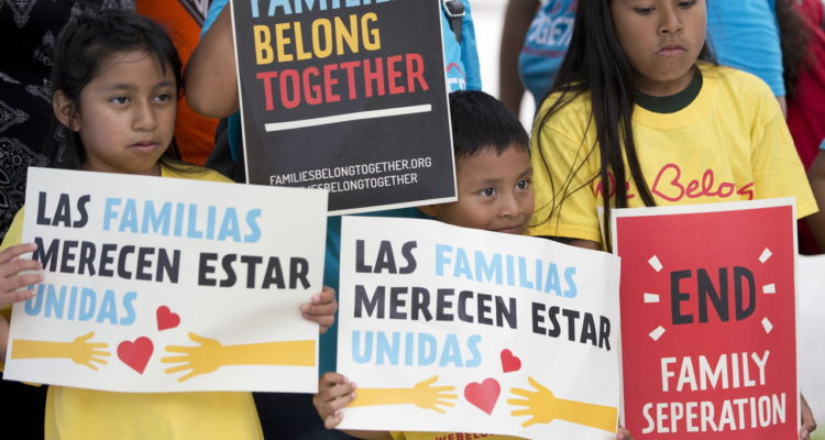 Photo of immigrant children at a rally