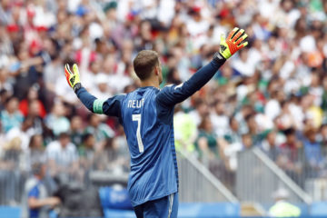 Photo of German goalkeeper Manuel Neuer during 2018 World Cup