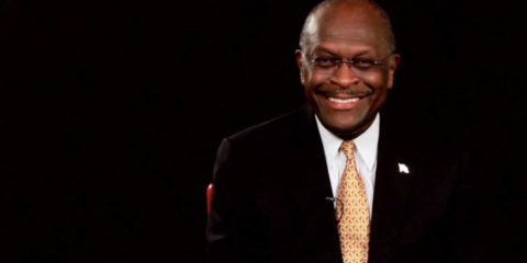 Portrait of businessman and 2012 GOP presidential candidate Herman Cain