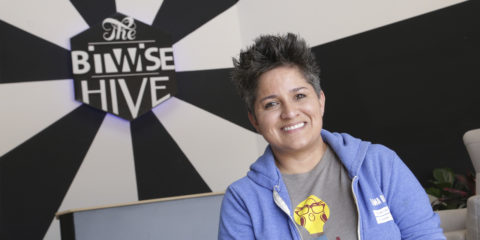 Portrait of Irma Olguin Jr. at Bitwise in Fresno, CA