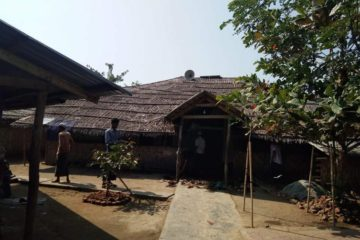 Picture of a camp for displaced Rohingyas in the city of Sittwe in western Myanmar
