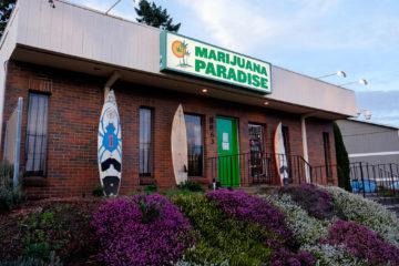 A legal cannabis shop in Portland, Oregon