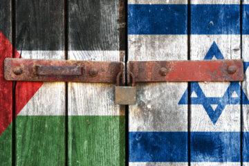 Flags of Palestine & Israel