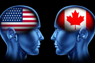 U.S. vs. Canada Trade War Logo