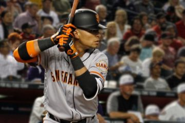 Stock photo of San Francisco Giants', Gorkys Hernandez, up to bat
