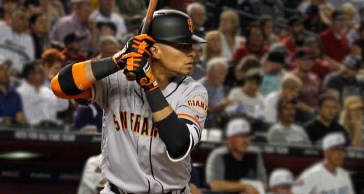 Stock photo of San Francisco Giants', Gorkys Hernandez, up to bat