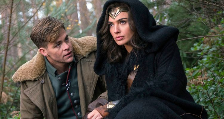 """Photo of Chris Pine and Gal Gadot in a scene from """"Wonder Woman."""""""
