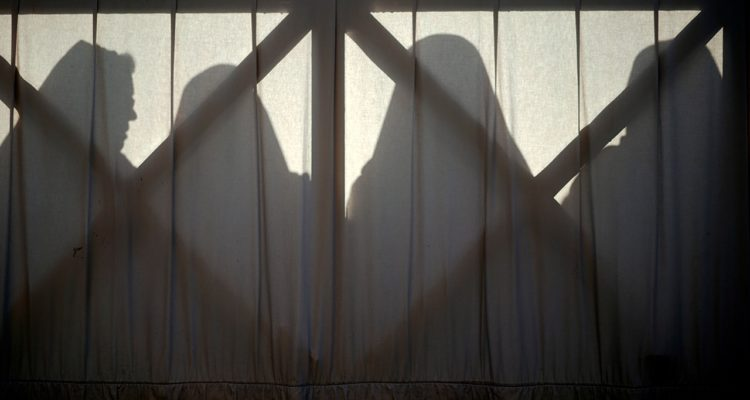 Photo of nuns silhouetted at the Vatican