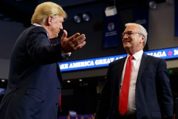 Photo of President Donald Trump and Senate candidate Rep. Kevin Cramer