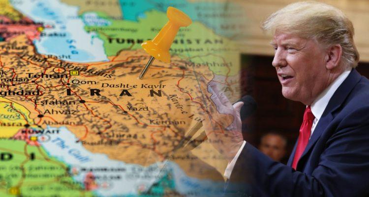 Photo of Iran map and Trump