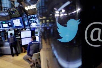 Photo of Twitter logo at NYSE