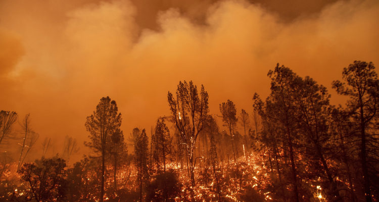 Photo of the Carr Fire in Redding, California