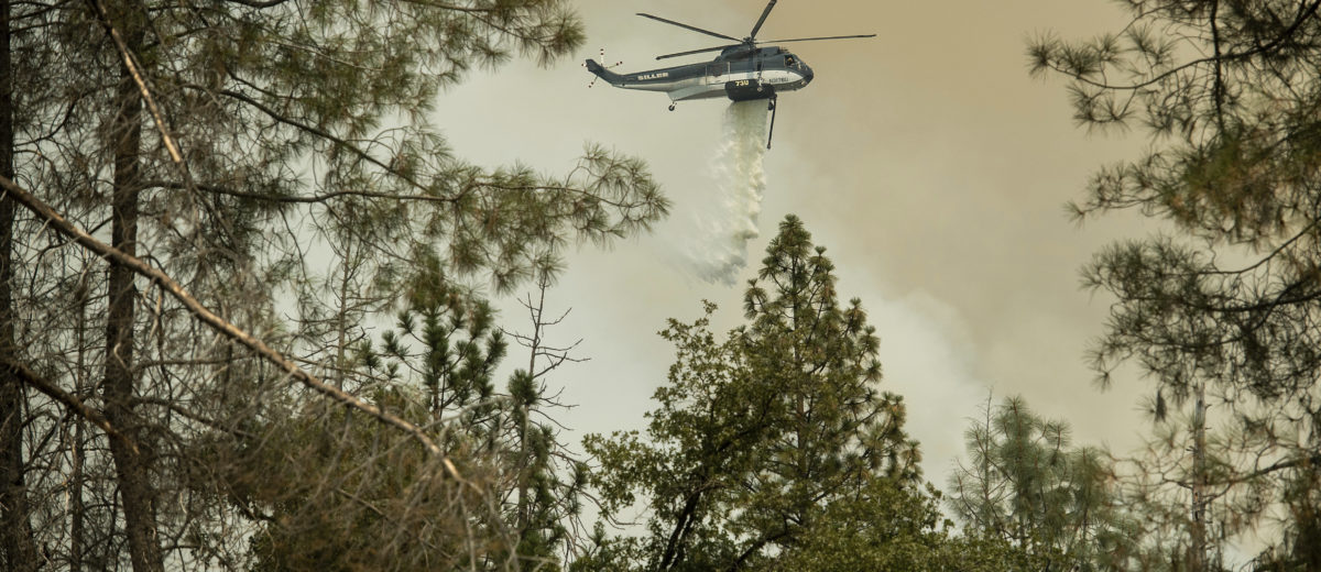 Helicopter fighting the Ferguson Fire