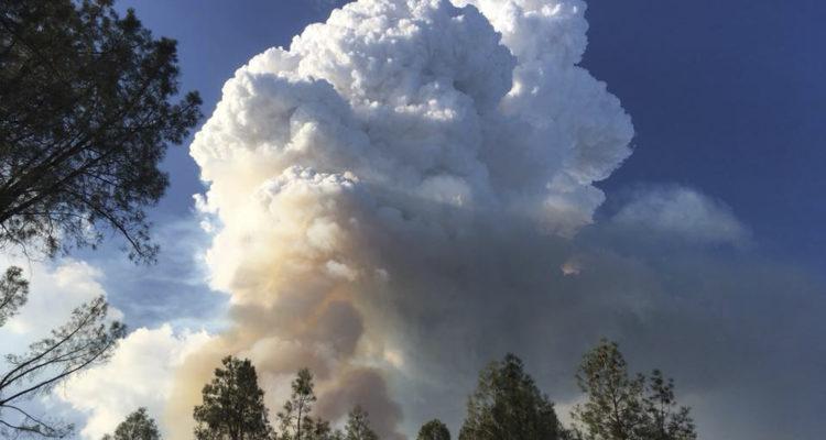 Photo of wildfire in Redding, California area