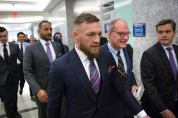 Photo of Conor McGregor leaving the courthouse