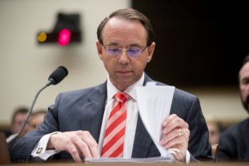 Photo of Deputy Attorney General Rod Rosenstein