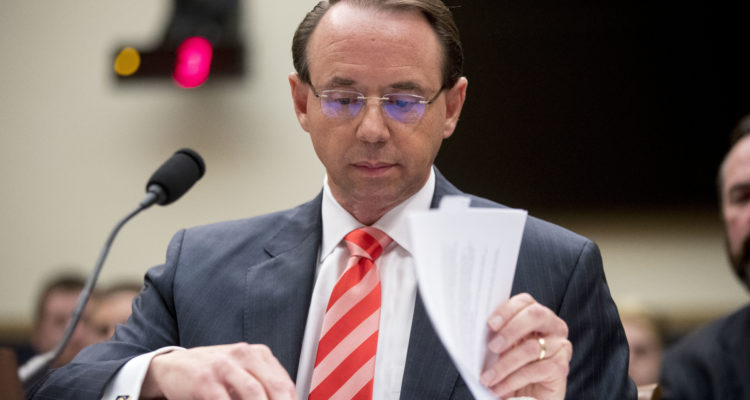 Photo of Deputy Attorney General Rod Rosenstein