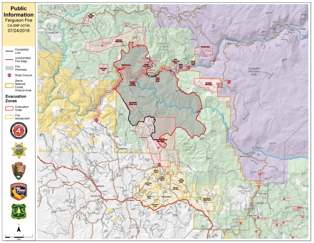 Ferguson Fire map