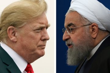 Photo of Donald Trump and Hassan Rouhani