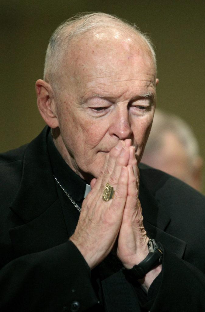 Photo of Cardinal McCarrick praying