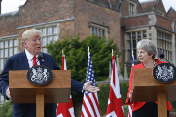 Photo of Theresa May and Donald Trump