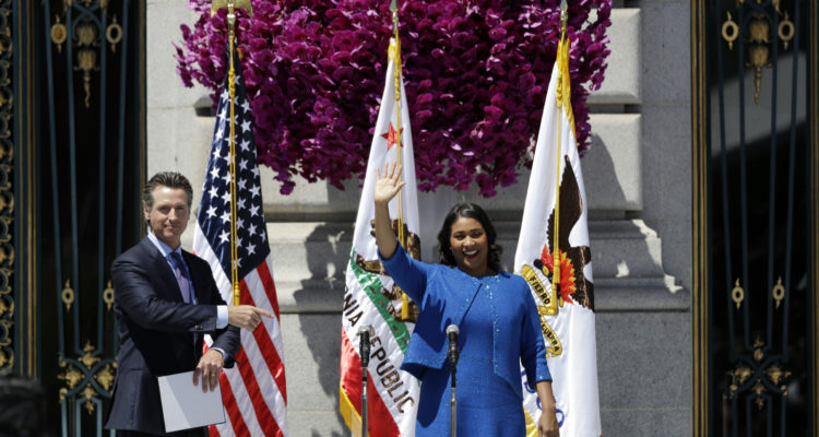 Photo of Gavin Newsom and London Breed