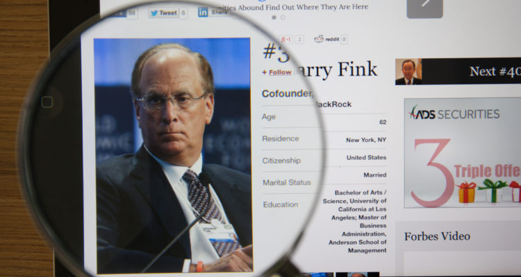 Screen grab of BlackRock CEO Larry Fink