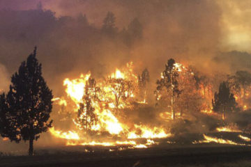 Photo of the Klamathon Fire in Northern California