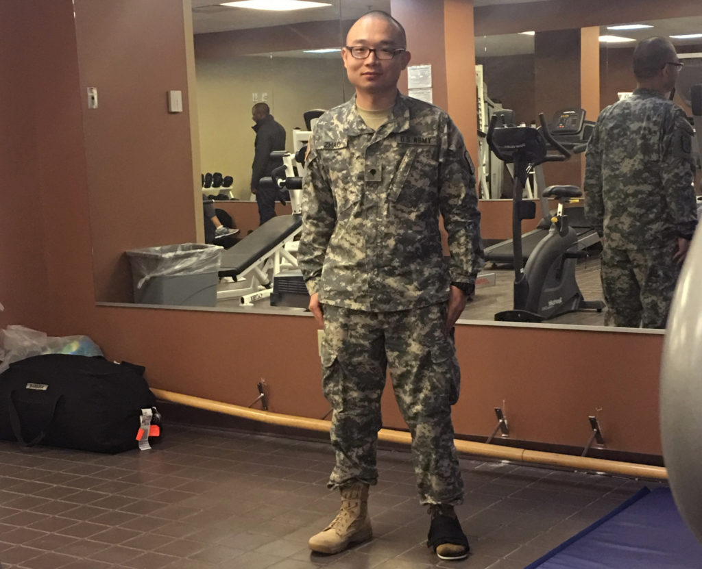 Photo of discharged immigrant US Army recruit Panshu Zhao